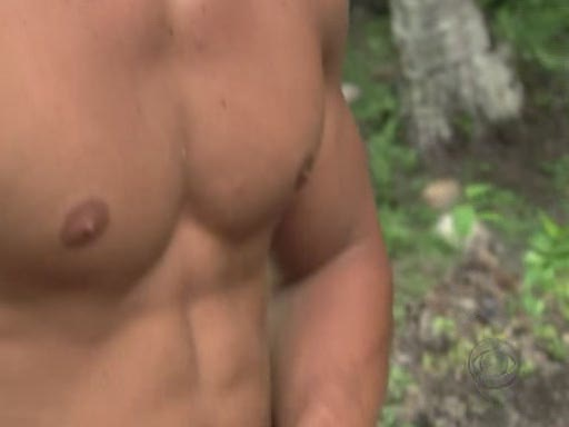 Jeff on Survivor's pecs
