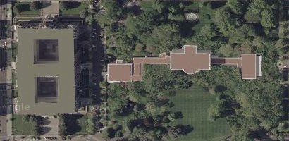 satellite view of White House