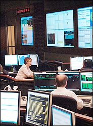 VISA data center, with plenty of monitors