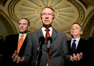 Senator Reid at press conference