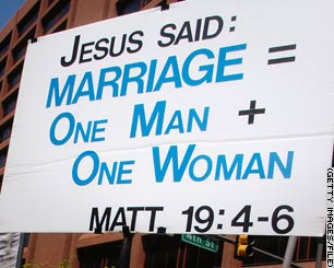 Man + Woman = Marriage