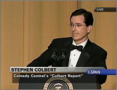 Stephen Colbert at the podium