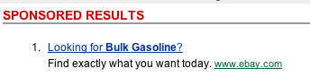 eBay ad: Looking for bulk gasoline?