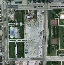 Millennium Park satellite photo crop